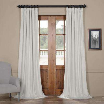 Blackout Signature Reflection Grey Blackout Velvet Curtain - 50 in. W x 96 in. L (1 Panel)