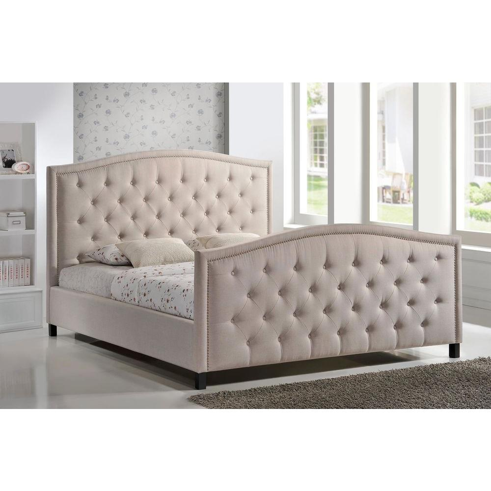 LuXeo Camden Palazzo Mist King Upholstered Bed-LUX-K6379-PLM - The ...