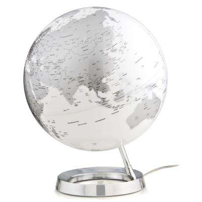 Light and Color 12 in. Silver Designer Series Desktop Globe