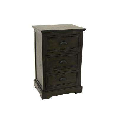 26.75 in. Brown Wood Cabinet