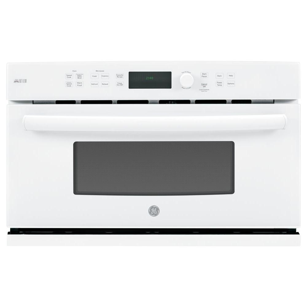 GE Profile Advantium 30 in. Electric Wall Oven with Speed Cook and Convection in White