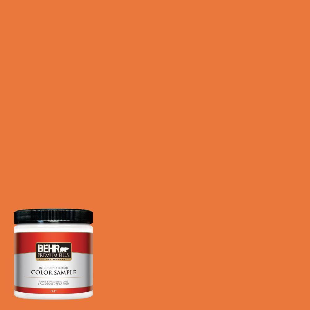 BEHR Premium Plus 8 oz. #S-G-250 Solar Flare Interior/Exterior Paint Sample