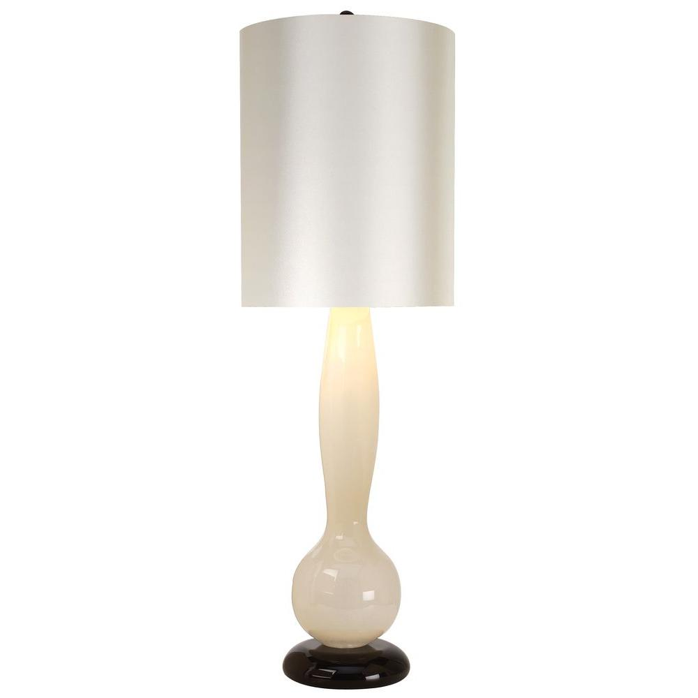 Trend Lighting Pique 33.5 in. Ivory and Ebony Lacquer Table Lamp