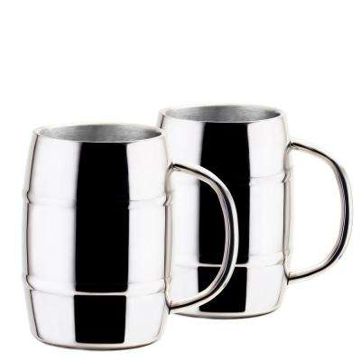 Jumbo KeepKool 33.8 oz. Double Walled Stainless Steel Mugs (Set of 2)