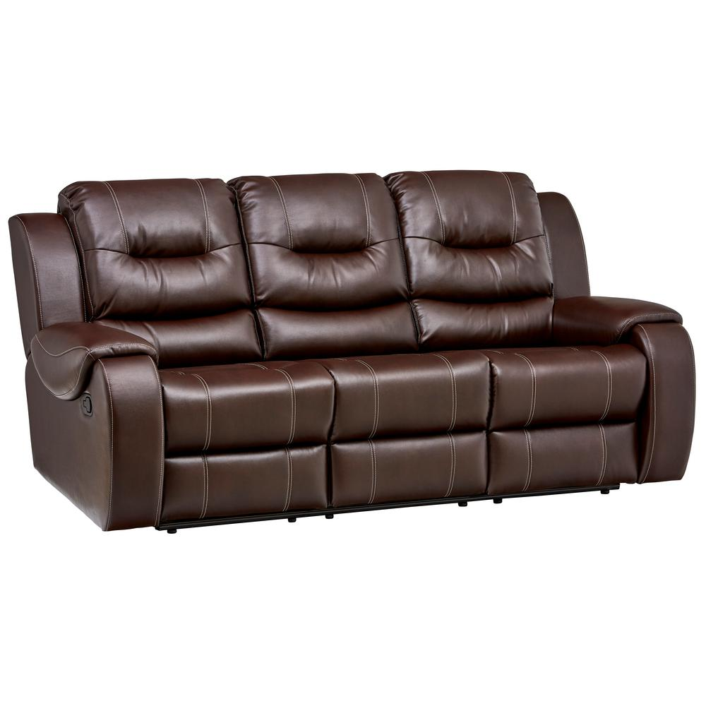 Double Reclining Sofa Homelegance Geoffrey Double