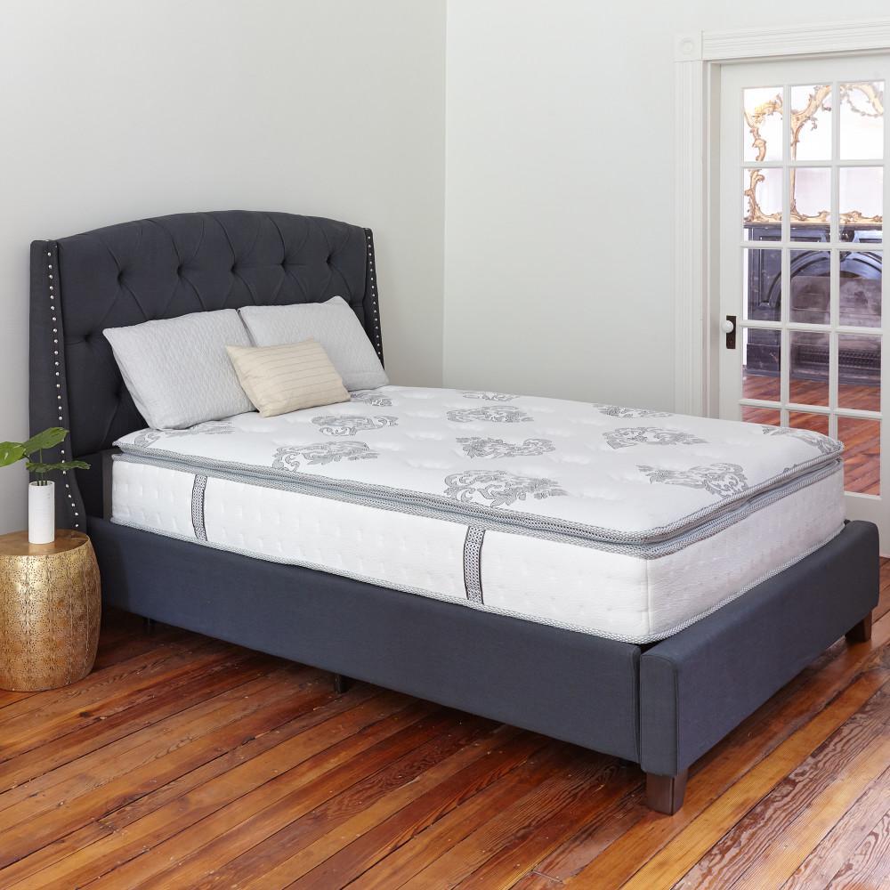 linenspa 6 in twin innerspring mattress ls06ttgrsp the home depot
