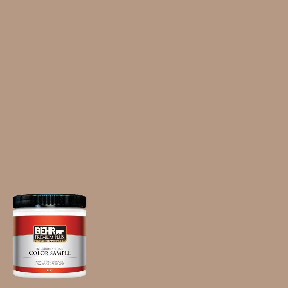Behr Premium Plus 8 Oz 250f 4 Stone Brown Flat Interior