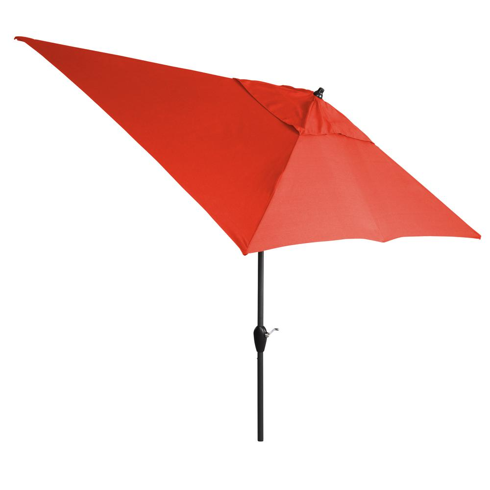 10 ft. Aluminum Tilt Patio Umbrella in CushionGuard Ruby