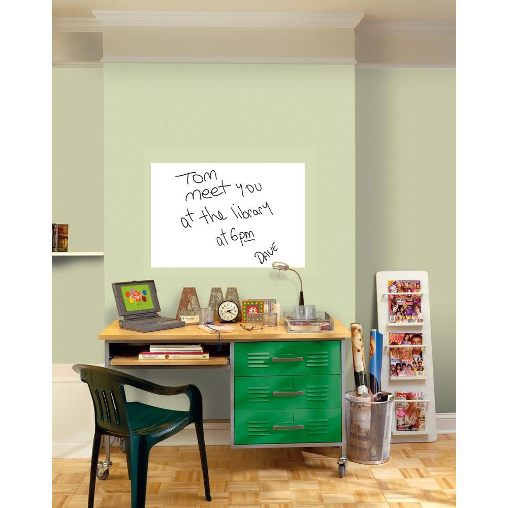 Dry Erase Whiteboard Wall Decal WPE0446   The Home Depot