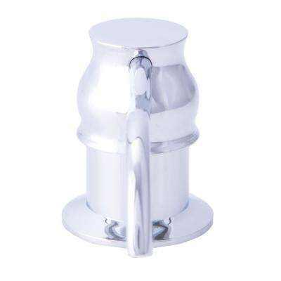 Curved Soap and Lotion Dispenser for Kitchen or Bath in Polished Chrome