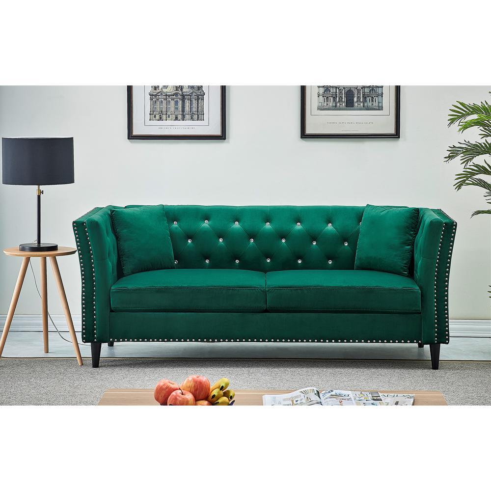 Us Pride Furniture Rivas Velvet Green