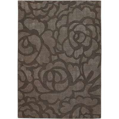Pernille Brown/Grey 5 ft. x 8 ft. Indoor Area Rug