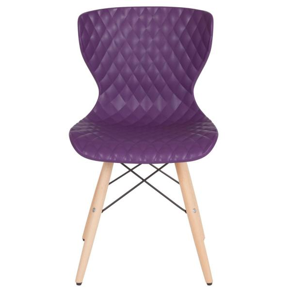 Flash Furniture Purple Plastic Office/Desk Chair CGA-LF-232247-PU-HD