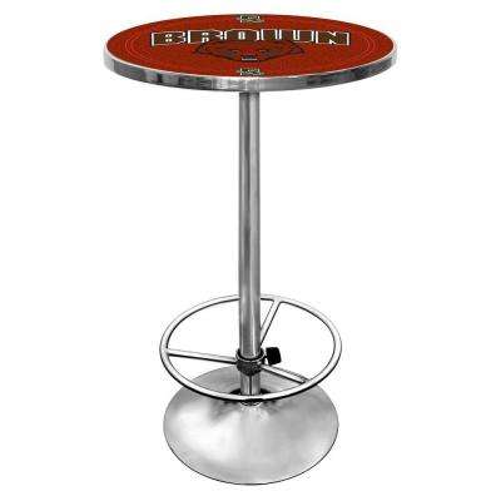 Brown University Chrome Pub/Bar Table