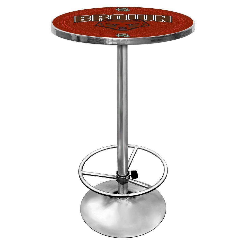 Trademark Brown University Chrome Pub/Bar Table LRG2000-BRU