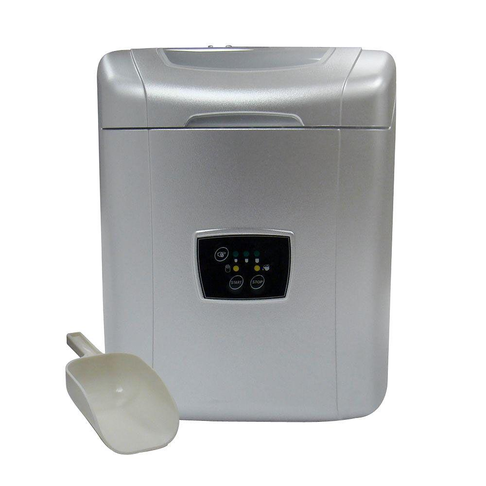 Vinotemp 26 Lb. Portable Ice Maker In Silver-VT-ICEMP25
