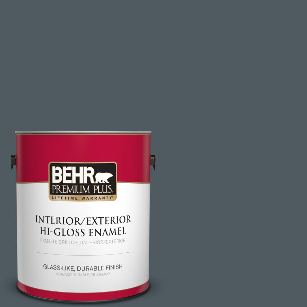 1 gal. #PPU25-21 City Rain Hi-Gloss Enamel Interior/Exterior Paint