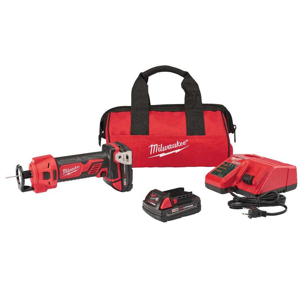 Milwaukee M18 18-Volt Lithium-Ion Cordless Rotary Cut Out Tool Kit with Two 1.5 Ah Batteries, Charger and Tool Bag