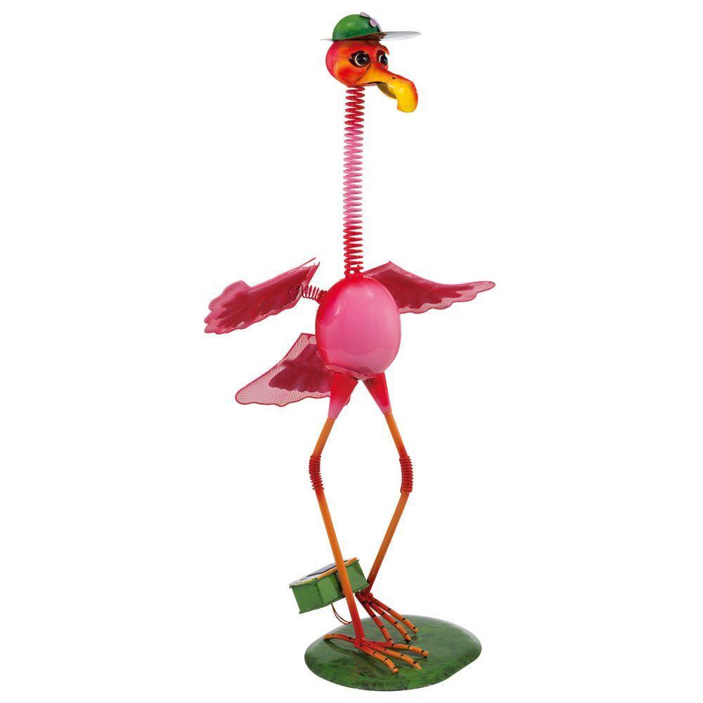 Eglo Outdoor Solar Flamingo Pink LED Light