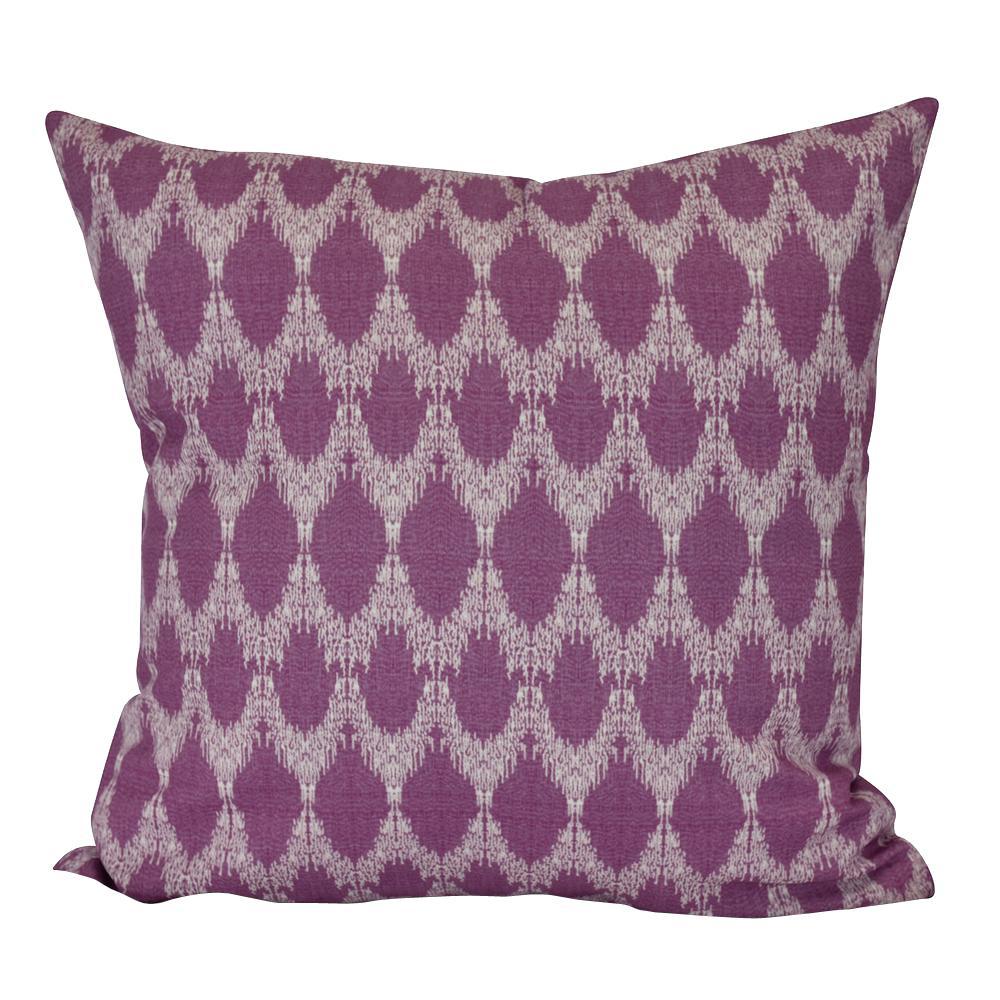 Peace Purple Geometric 26 in. x 26 in. Throw Pillow