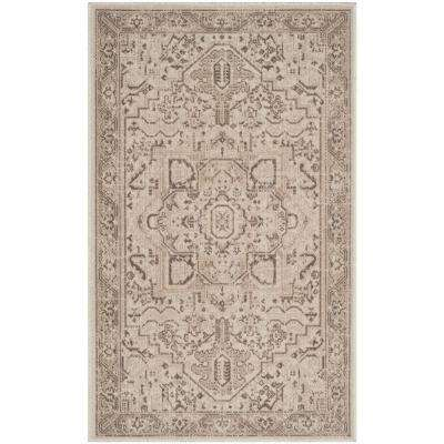 Essence Natural/Taupe 3 ft. x 5 ft. Area Rug