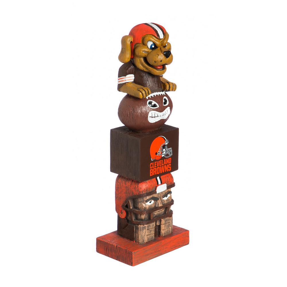 Cleveland Browns Tiki Totem Garden Statue