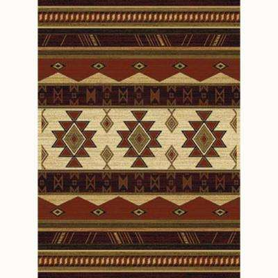 Southwest Wind Beige 8 ft. x 11 ft. Contemporary Area Rug