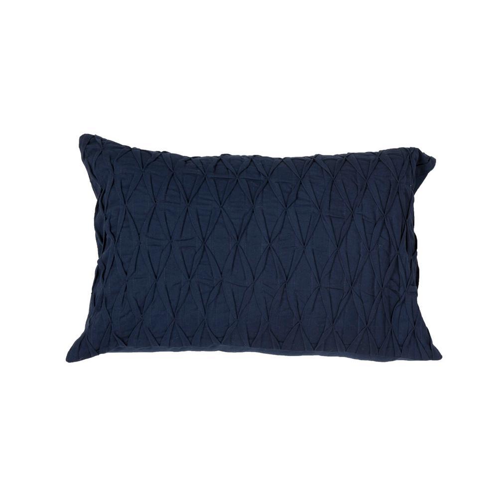 Midnight Navy Stripe Lumber Indoor Throw Pillow