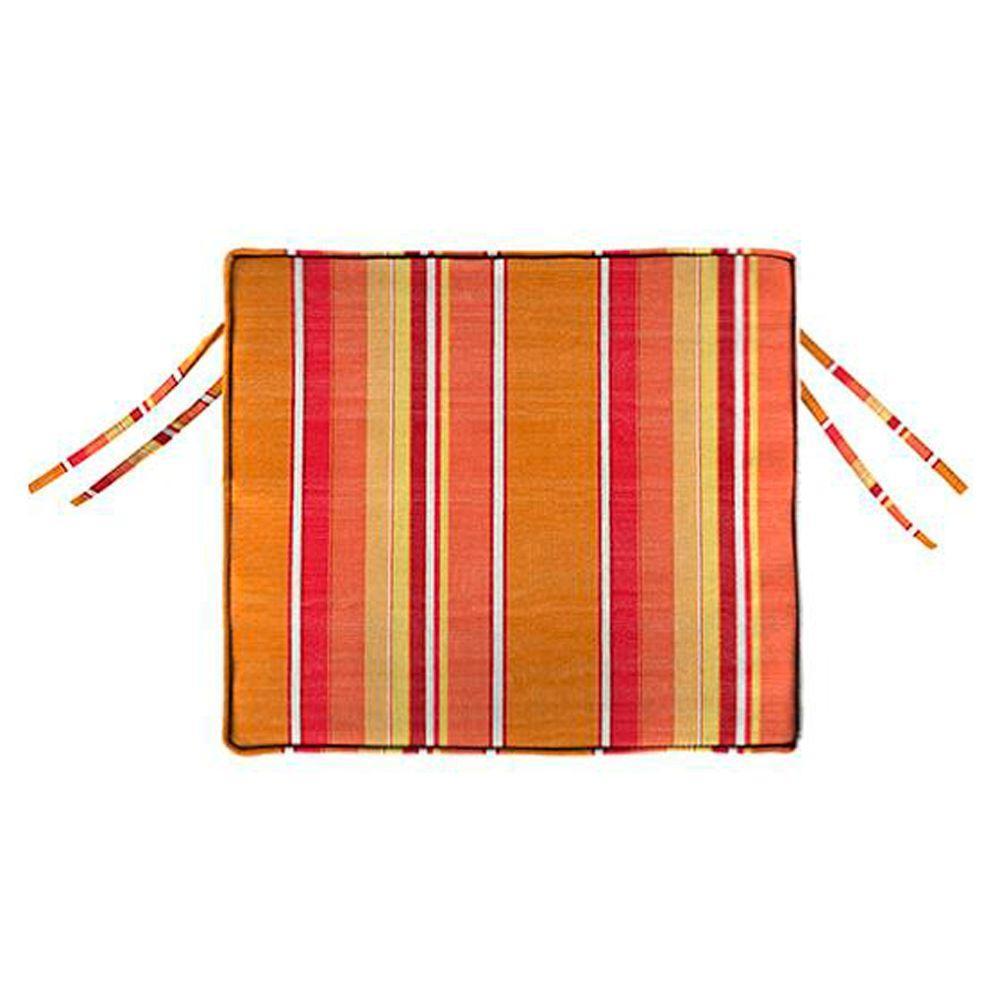 Home Decorators Collection Sunbrella Dolce Mango Rectangular Outdoor Seat Cushion