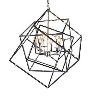 Electrified 6-Light Chrome Chandelier