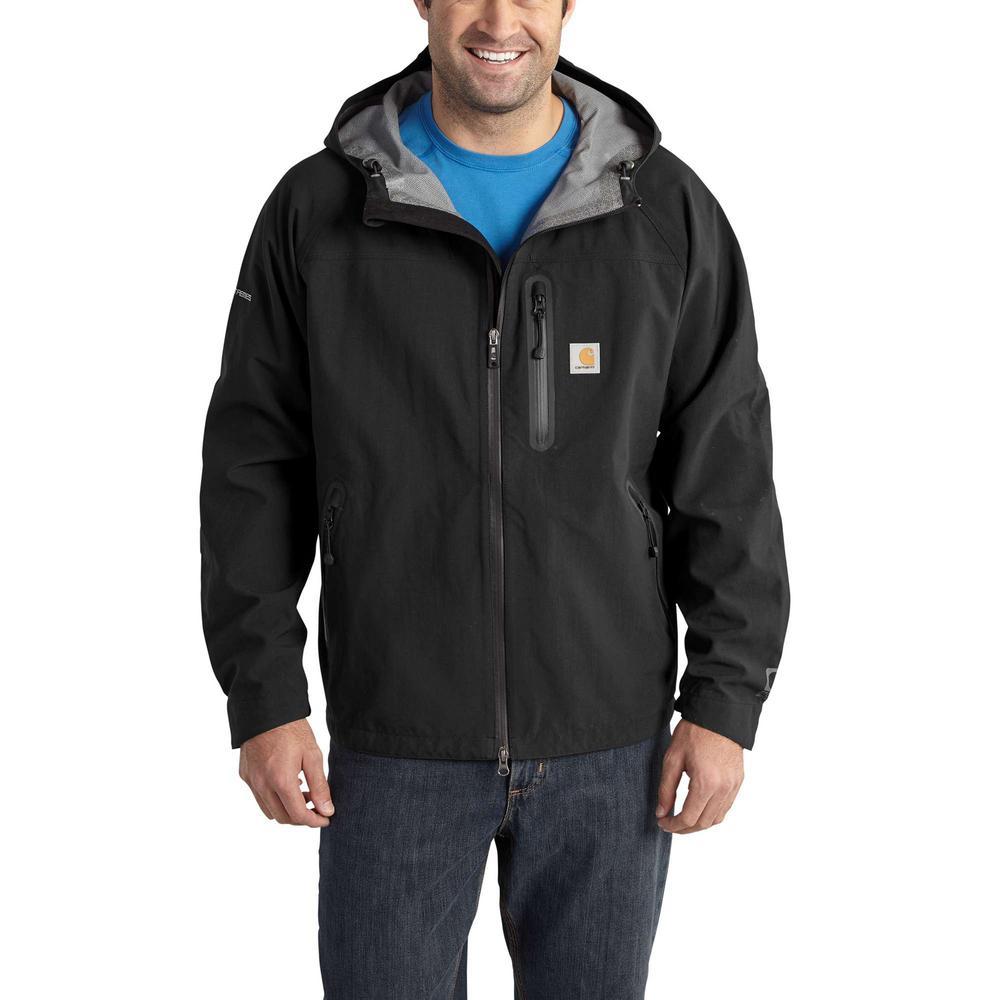 Men's Extra-Large Black Nylon Force Extremes Shoreline Vortex Jacket