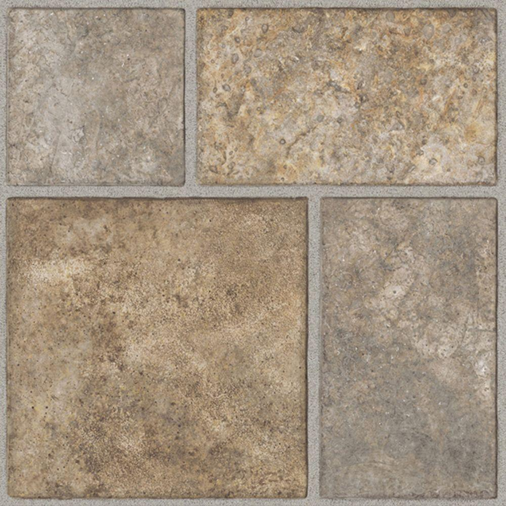 Trafficmaster Take Home Sample Allure Yukon Tan Resilient Vinyl Tile Flooring 4 In X 4 In