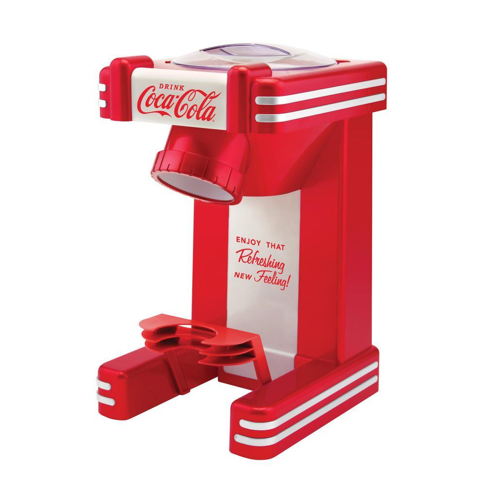 Coca-Cola 8 oz. Red and White Countertop Snow Cone Machine