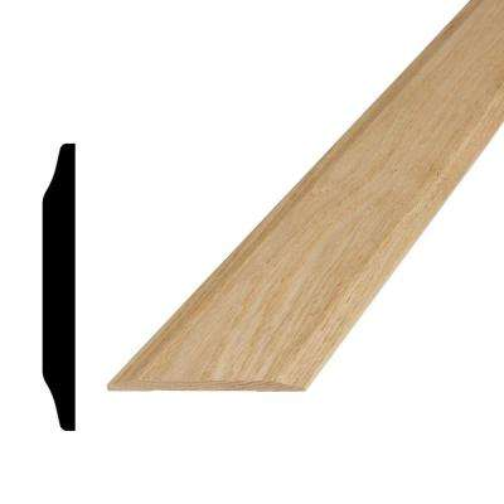5/8 in. x 5-5/8 in. x 96 in. Oak Saddle Threshold Moulding