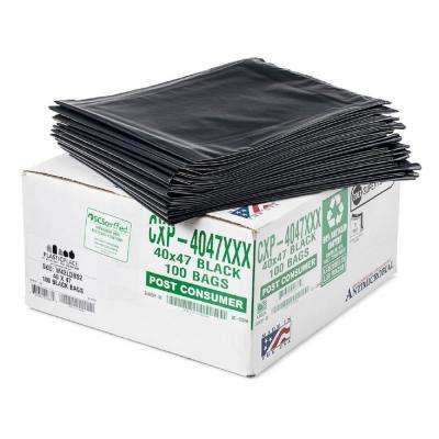 42 Gal. Black Eco-Friendly Trash Bags (Case of 100)