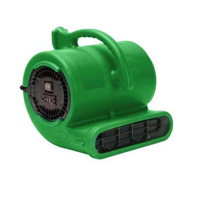 1/3 HP Air Mover for Water Damage Restoration Carpet Dryer Janitorial Floor Blower Fan, Green