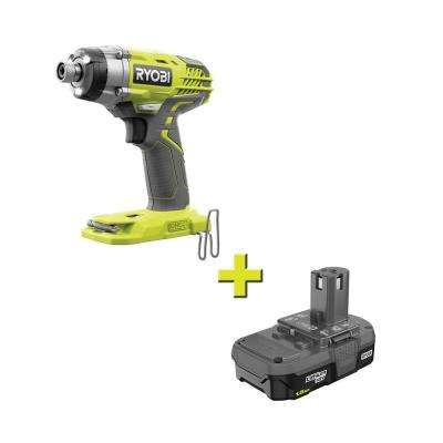 18-Volt ONE+ Cordless 3-Speed 1/4 in. Hex Impact Driver with 1.5 Ah Compact Lithium-Ion Battery