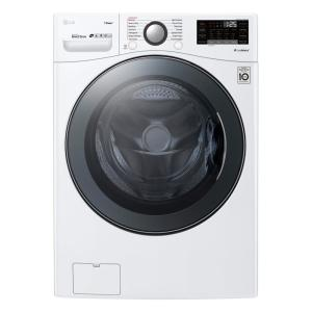 LG Electronics 4 5 cu ft  Ultra Large Capacity White Front