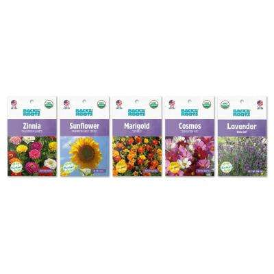 Organic Flowers Seeds Variety (5-pack)