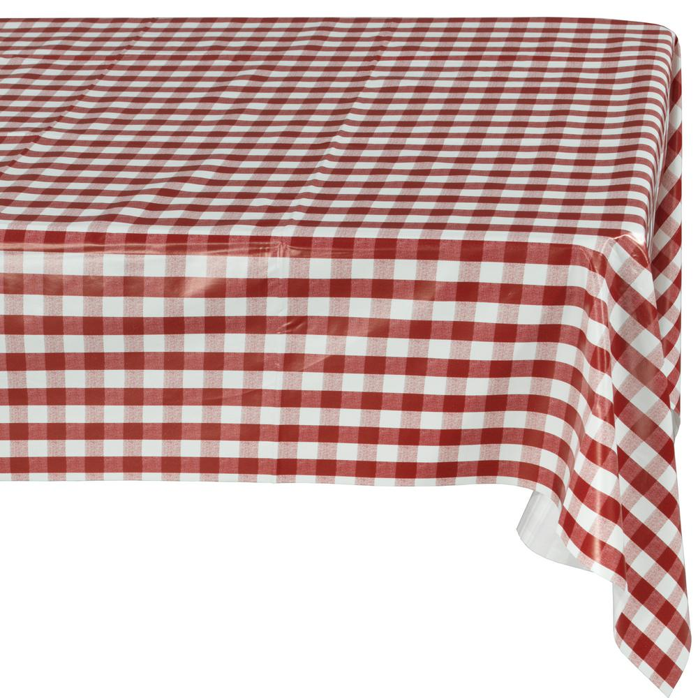Indoor And Outdoor Red Checkered Design Table Cloth