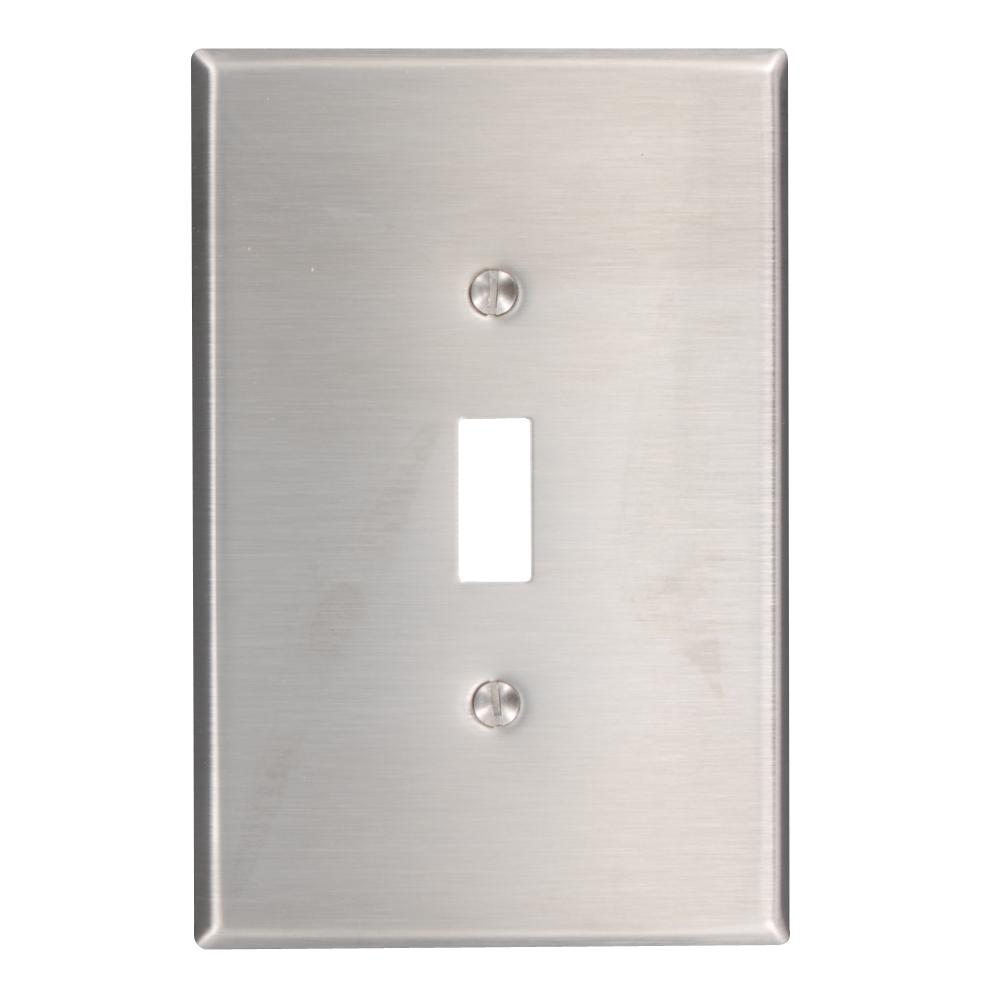 1gang 1toggle oversized stainless steel wall plate stainless steel