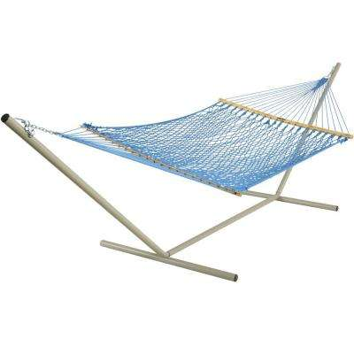 55 in. W x 82 in. L Coastal Blue DuraCord Rope Hammock