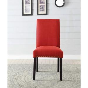 Amazing Internet #303763520. +2. ACME Furniture Gregory Red Linen Side Chair