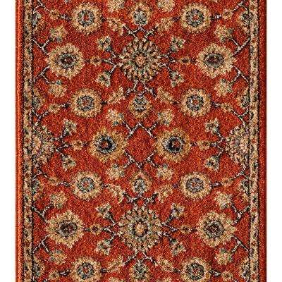Kurdamir II Alhambra Clay 26 in. x Your Choice Length Roll Runner