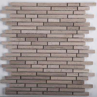 Limestone Gray Honed 12.9 in. x 12.9 in. x 10mm Limestone Mesh-Mounted Mosaic Tile (1.07 sq. ft.)