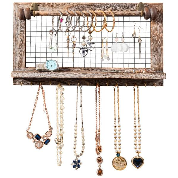 Wall Mounted Jewelry Holder Hanger Display Rack