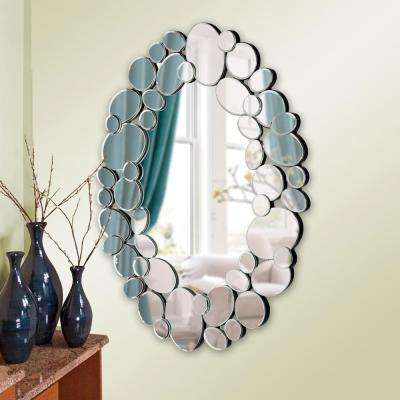 28 in. x 35 in. Oval Framed Mirror