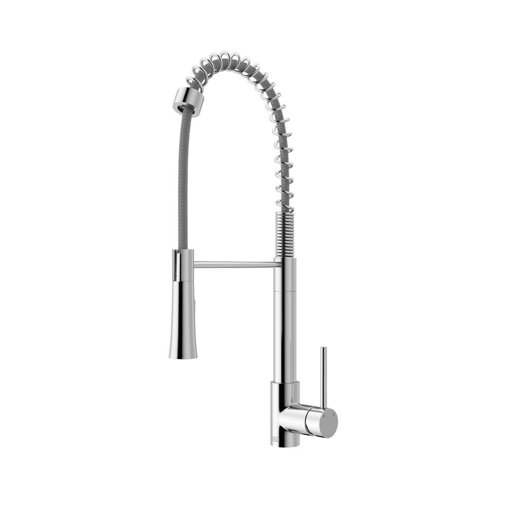 VIGO Laurelton Single-Handle Pull-Down Sprayer Kitchen Faucet in ...