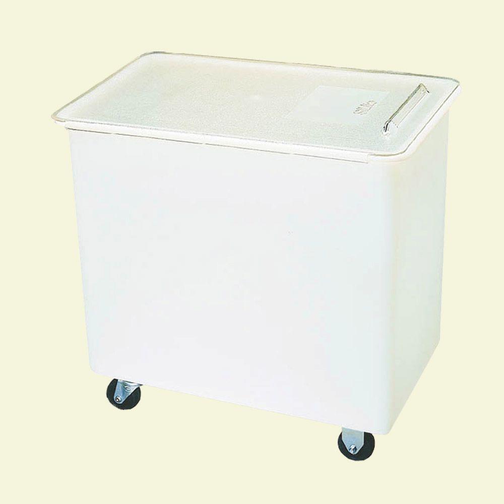 Carlisle 27 gal. Wheeled Ingredient Bin Polyethylene with Polycarbonate Lid in White