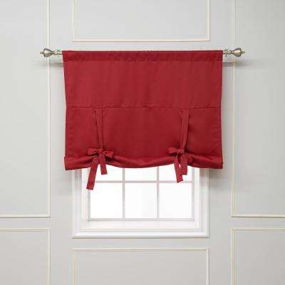 Basic 42 in. W X 63 in. L Drapery Panel in Cardinal Red